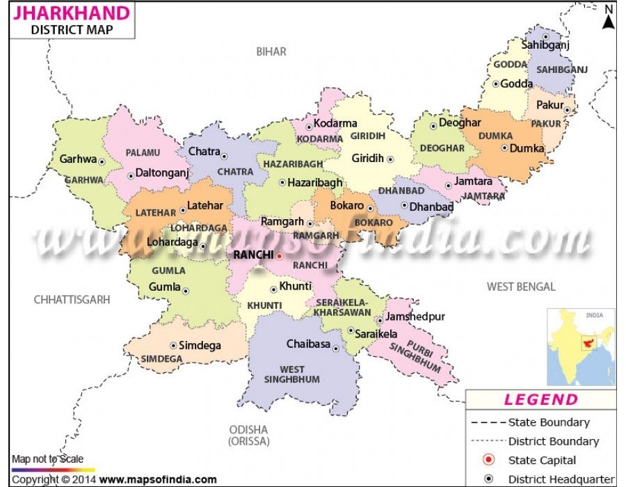 Buy Jharkhand District Map