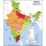 Map of Ruling Parties in States of India
