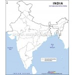 India Outline Map