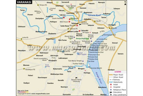 Buy Varanasi City Map