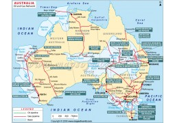 Australia Oil & Gas Network Map