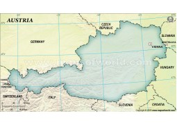 Austria Blank Map, Dark Green