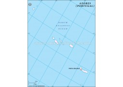 Azores Outline Map