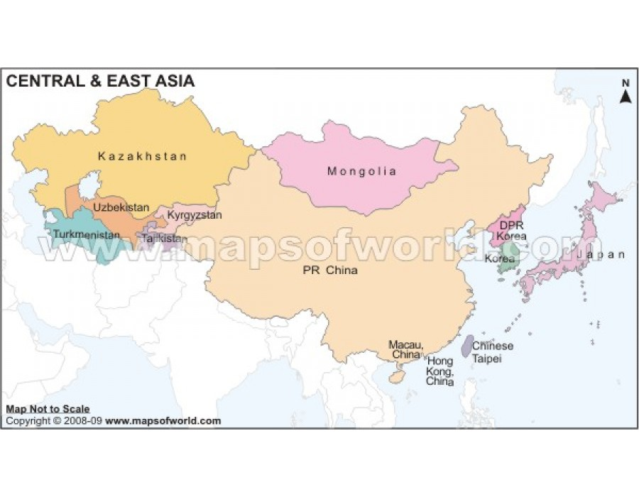 Buy Central And East Asia Map
