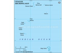 Chagos Political Map, Green