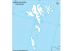 Faroe islands Outline Map