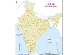 National Highway Map of India