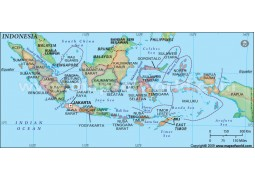 Buy indonesia maps from online map store indonesia map with states publicscrutiny Choice Image