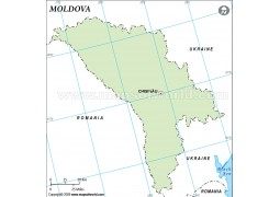 Moldova Outline Map