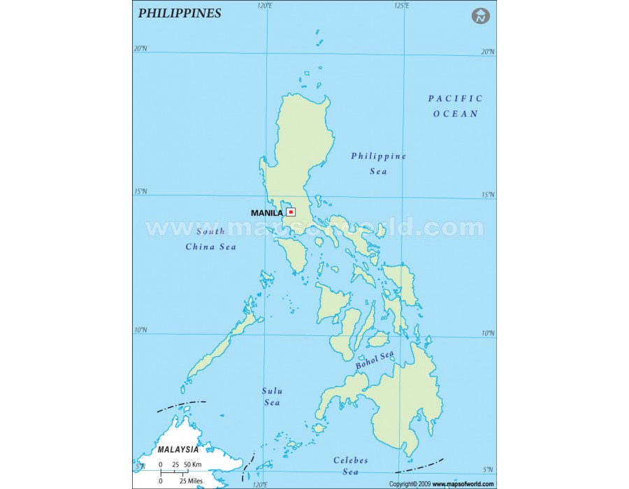 Buy Philippines Outline Map