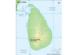 Buy Sri Lanka Maps from Online Map Store
