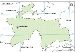 Tajikistan Outline Map