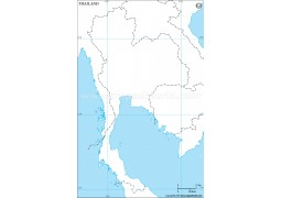 Thailand Outline Map