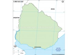 Uruguay Outline Map