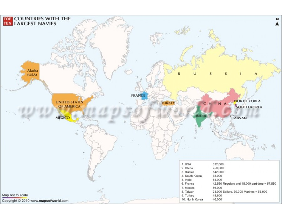 Buy world map of top ten countries with largest navies world map of top ten countries with largest navies gumiabroncs Choice Image