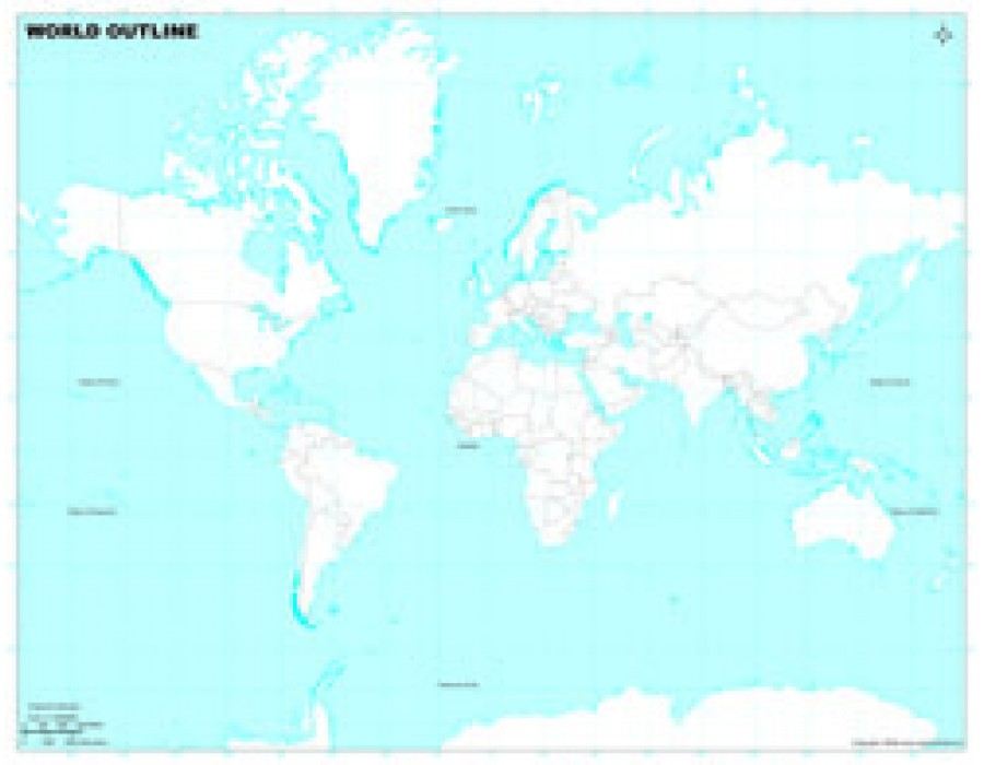 Buy world map in miller projection light blue background world map in miller projection light blue background gumiabroncs Gallery