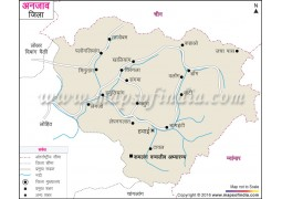 Anjaw District Map Hindi