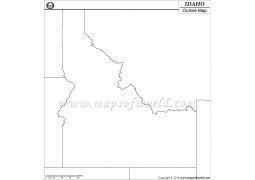 Idaho Outline Map