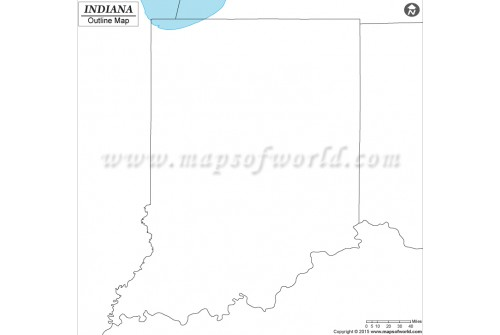 Blank Map of Indiana