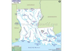 Louisiana River Map