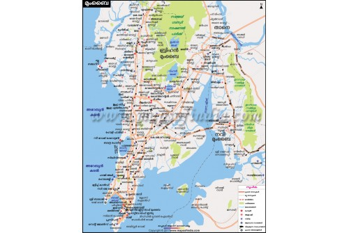 Mumbai City Map Malayalam