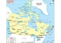 Canada Map with Cities