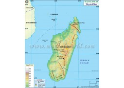 Madagascar Physical Map