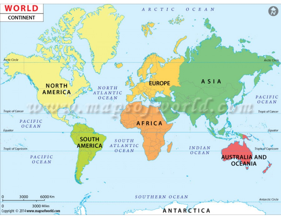 Buy World Continent Map online World Continent Vector Map