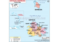Political Map of Antigua and Barbuda