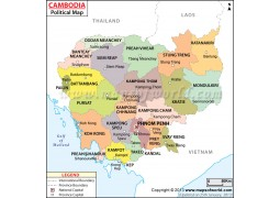 Political Map of Cambodia