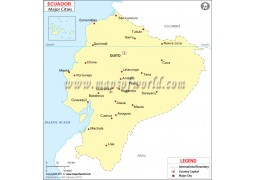 Ecuador Map with Cities