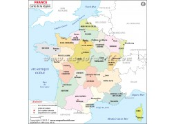 Carte de la France (France Map in French)
