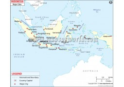 Map of Indonesiawith Cities