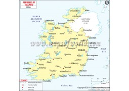 Map of Ireland with Cities