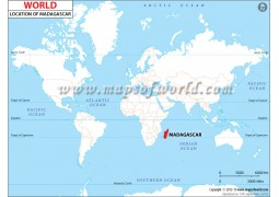 Madagascar Location Map