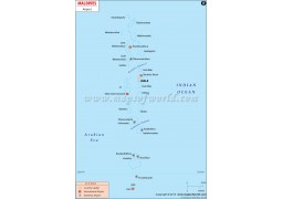 Map of Maldive Airports