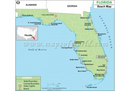 Map of Florida Beaches