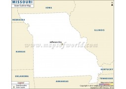Blank Map of Missouri