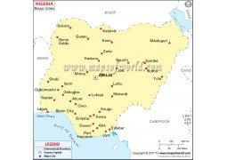 Nigeria Map with Cities