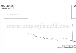 Blank Map of Oklahoma