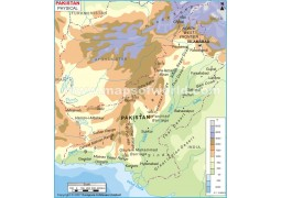 Physical Map of Pakistan
