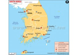 South Korea Airports Map