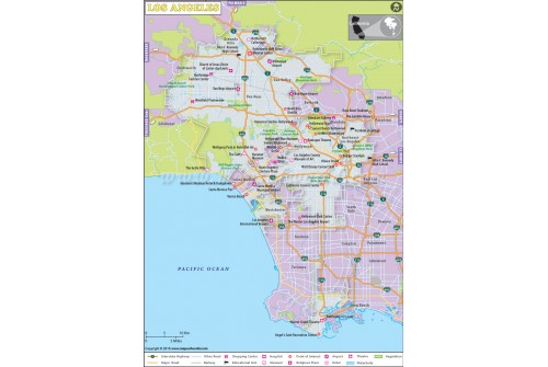 Los Angeles City Map