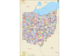 Ohio Zip Code Map