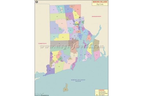 Rhode Island Zip Code Map