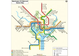 Washington (DC) Metro Rail Map