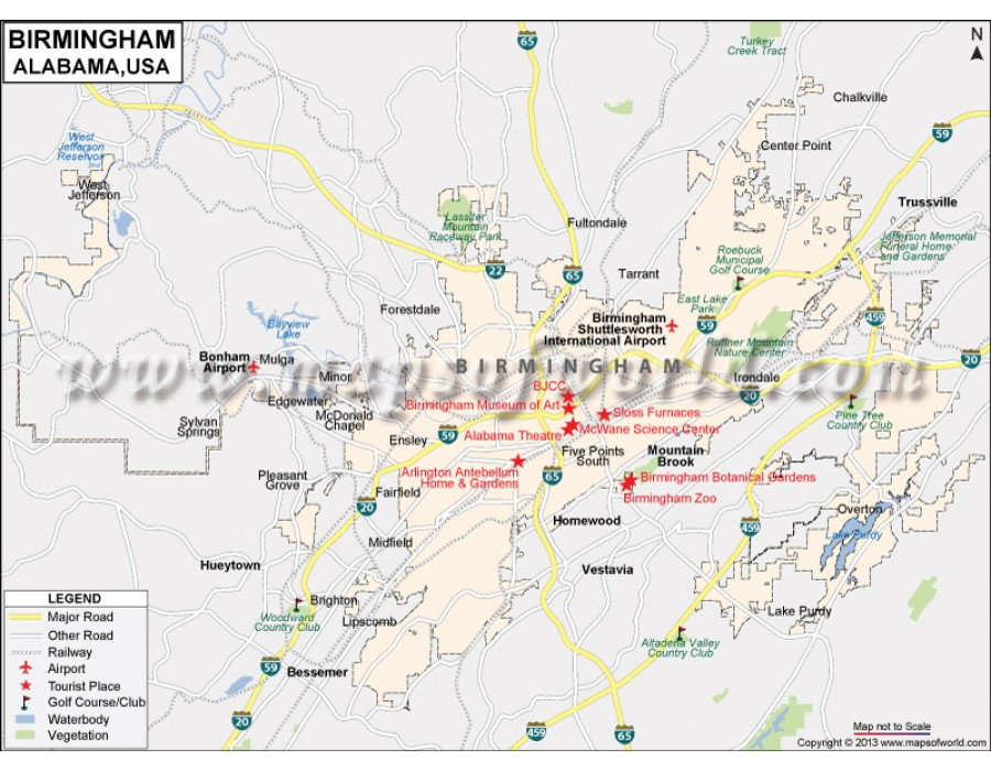 Buy Birmingham City Map
