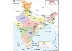 India Map in Hindi