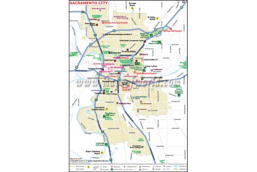 Sacramento City Map