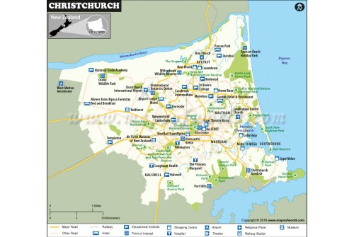 Christchurch City Map
